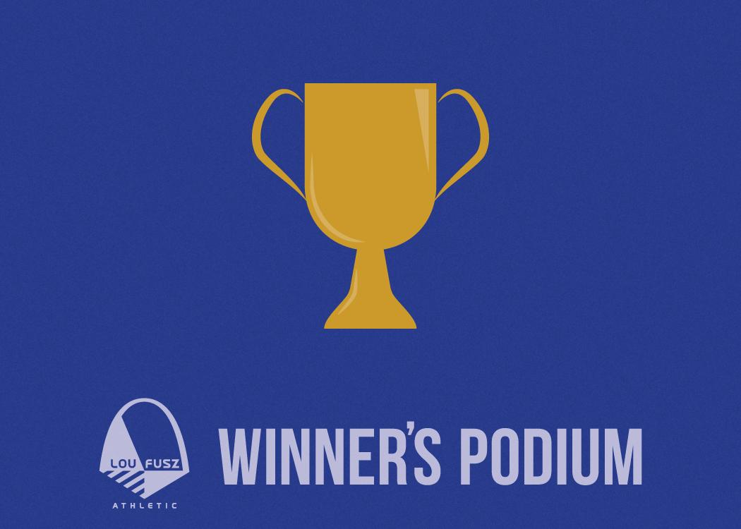 Lou Fusz Athletic Winners Podium