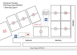 LFA Soccer Complex - Map