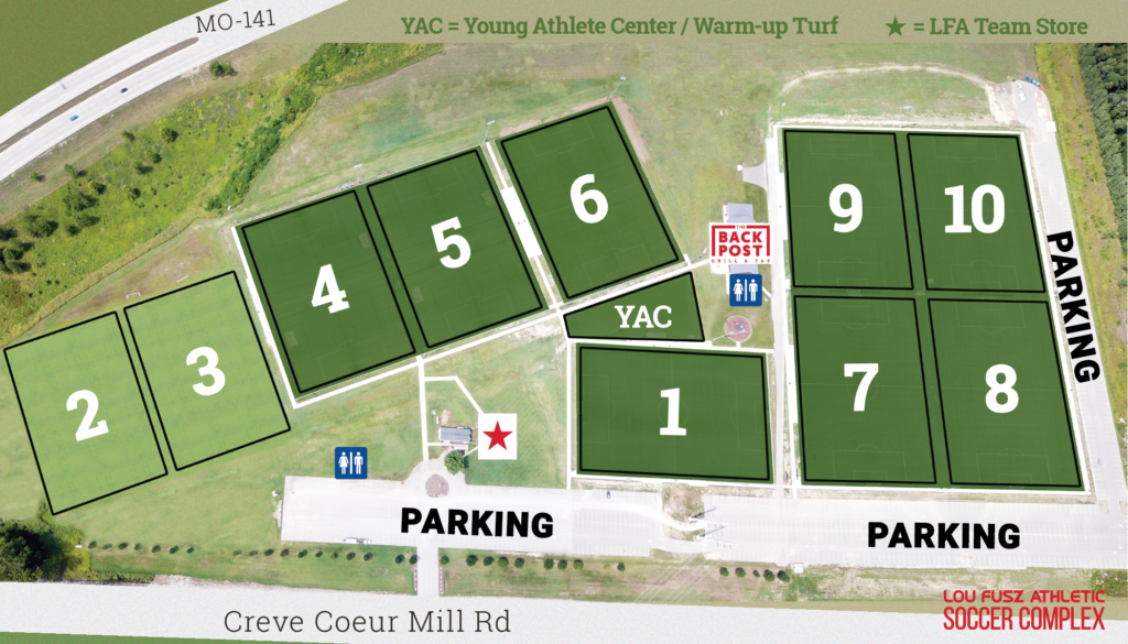 LFA Soccer Complex - Field Map