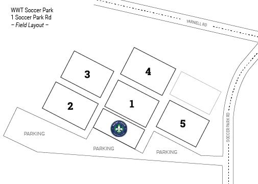 WWT Soccer Park - Map