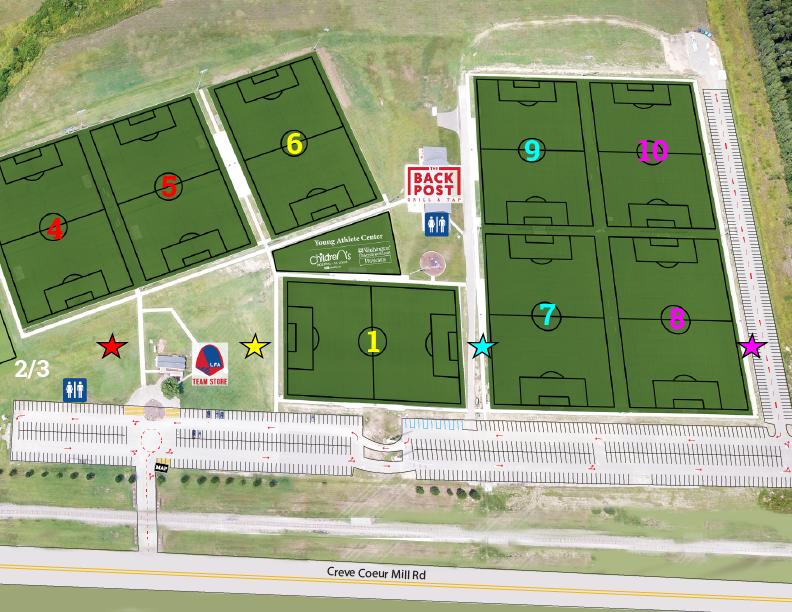 Dropoffs = ★  LFA Soccer Complex