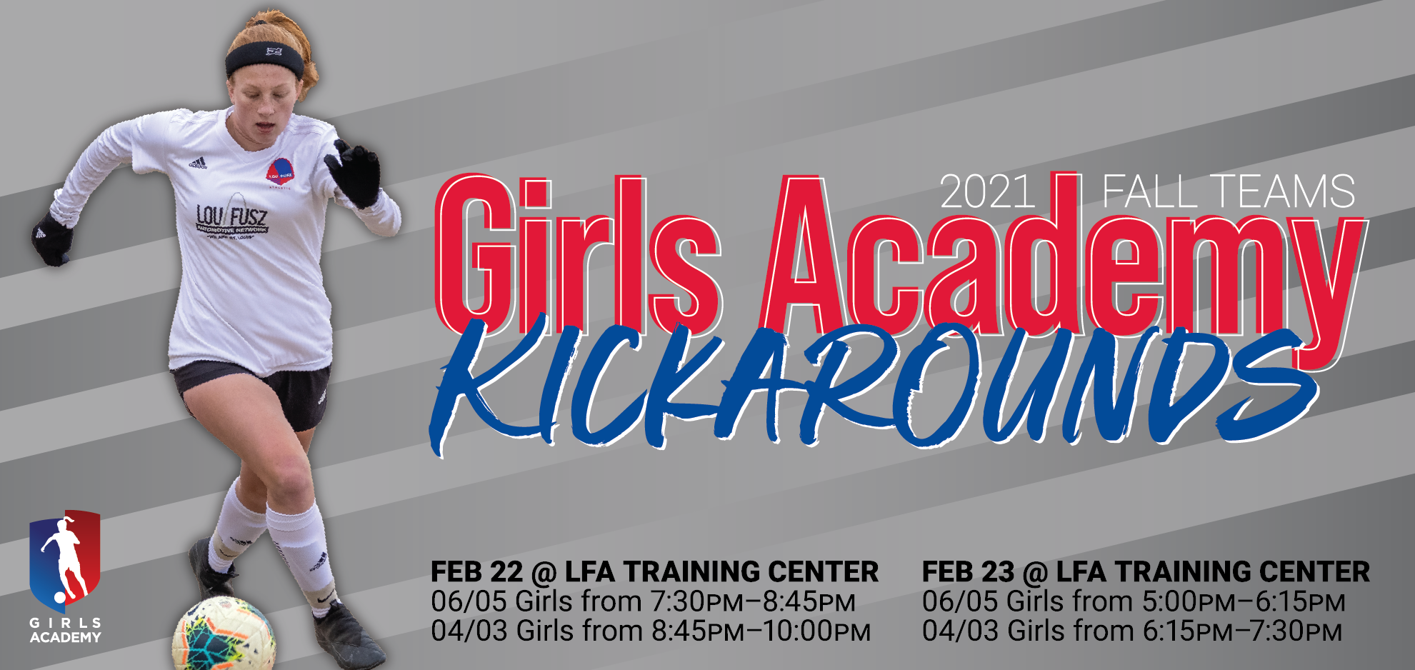 2021 Girls Academy Kickarounds logo